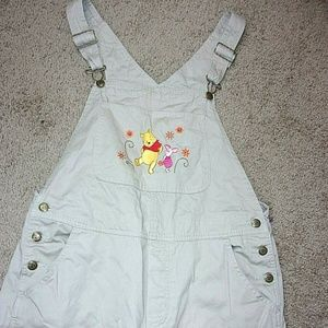 Winnie The Pooh Overalls Tan Piglet Women's Large
